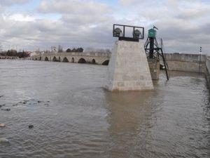 Edirnede Su Altında Kalan Alanlar Havadan Görüntülendi