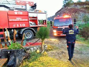 Fethiyede Bir Restoranda Yangın Çıktı