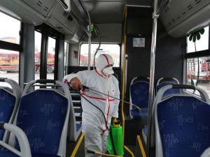 Şehir İçi Yolcu Taşıma Araçlarında Dezenfekte Çalışması Yapıldı