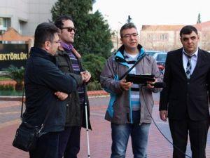 Engelliler, Akıllı Telefon Yardımıyla Kampüste Daha Rahat Gezecek