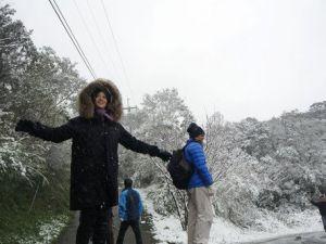 43 Yılın En Soğuk Kışını Yaşayan Tayvana Kar Yağdı