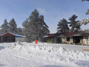 Kafetaryada Çıkan Yangın Sonucu Kayak Tesisleri Kullanılamaz Hale Geldi