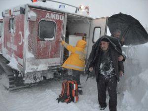 Bitliste Kar, Tipi ve Fırtınaya Karşı Hasta Kurtarma Operasyonu