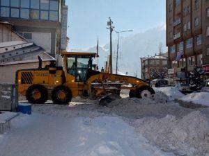 Hakkaride Kar Temizleme Mesaisi Yeniden Başladı