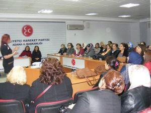 MHPli Kadınlara Etkili İletişim Anlatıldı