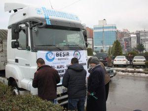 Bayırbucak Türkmenlerine Gidecek Yardım Tırları Dualarla Uğurlandı