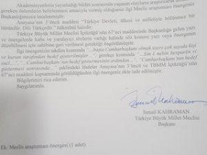 HDPli Mithat Sancarın Araştırma Önergesini TBMM Geri Çevirdi