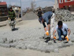 Hasani Basri Sokaklarına Kilit Taşı Döşeniyor - Erzurum