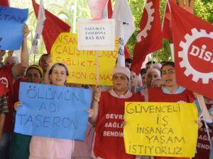 Taşeron İşçilerden Kadro Eylemi