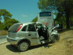 Manavgat Ta Trafik Kazaları 4 Yaralı