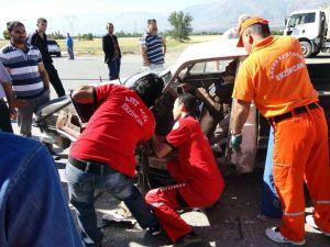 Erzincanda Trafik Kazası: 5 Yaralı