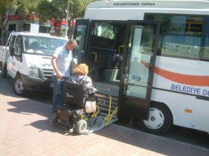 Burhaniyede Engellilere Ulaşım Kolaylığı
