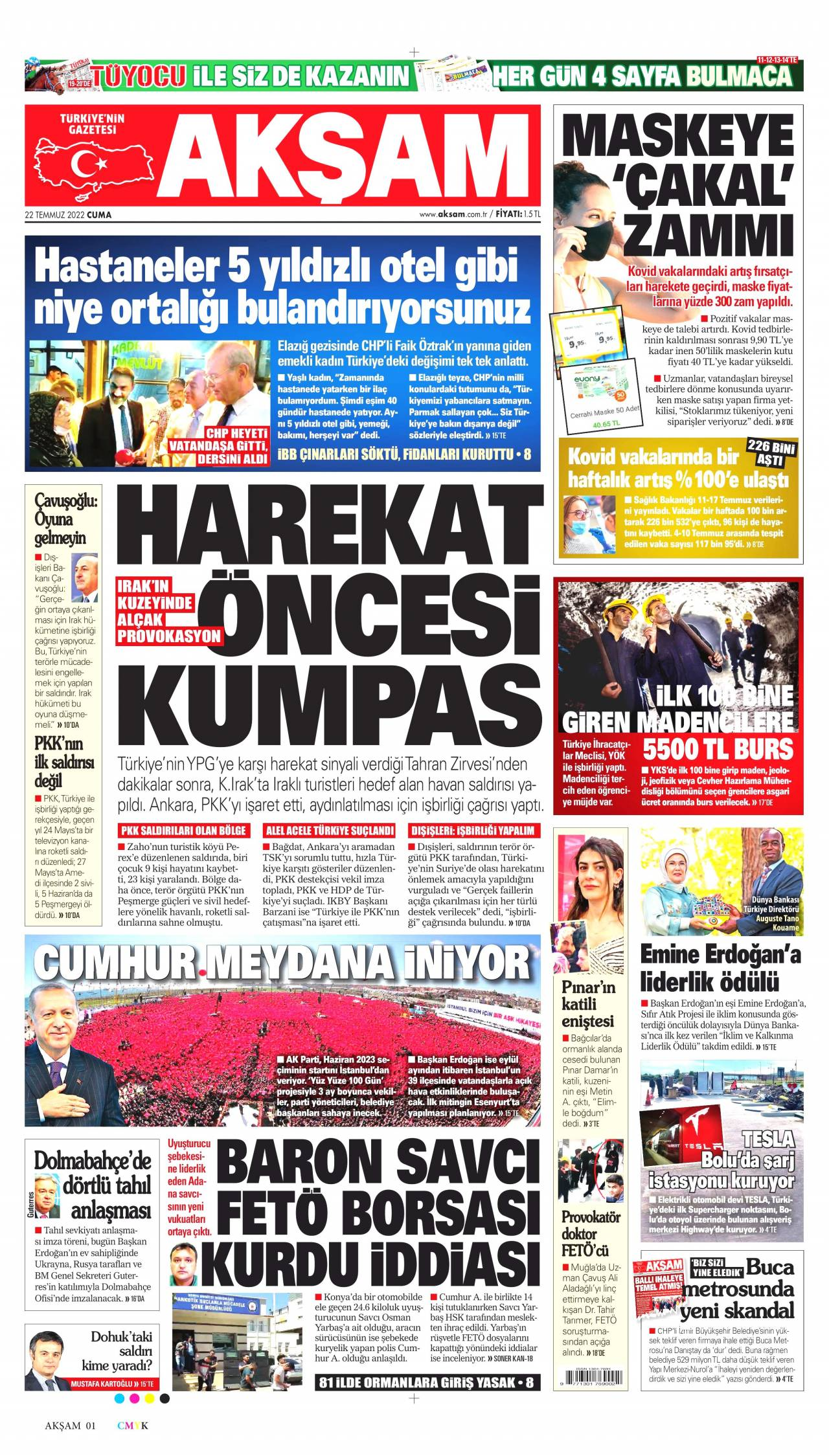 12 Ağustos 2020, Çarşamba aksam Gazetesi