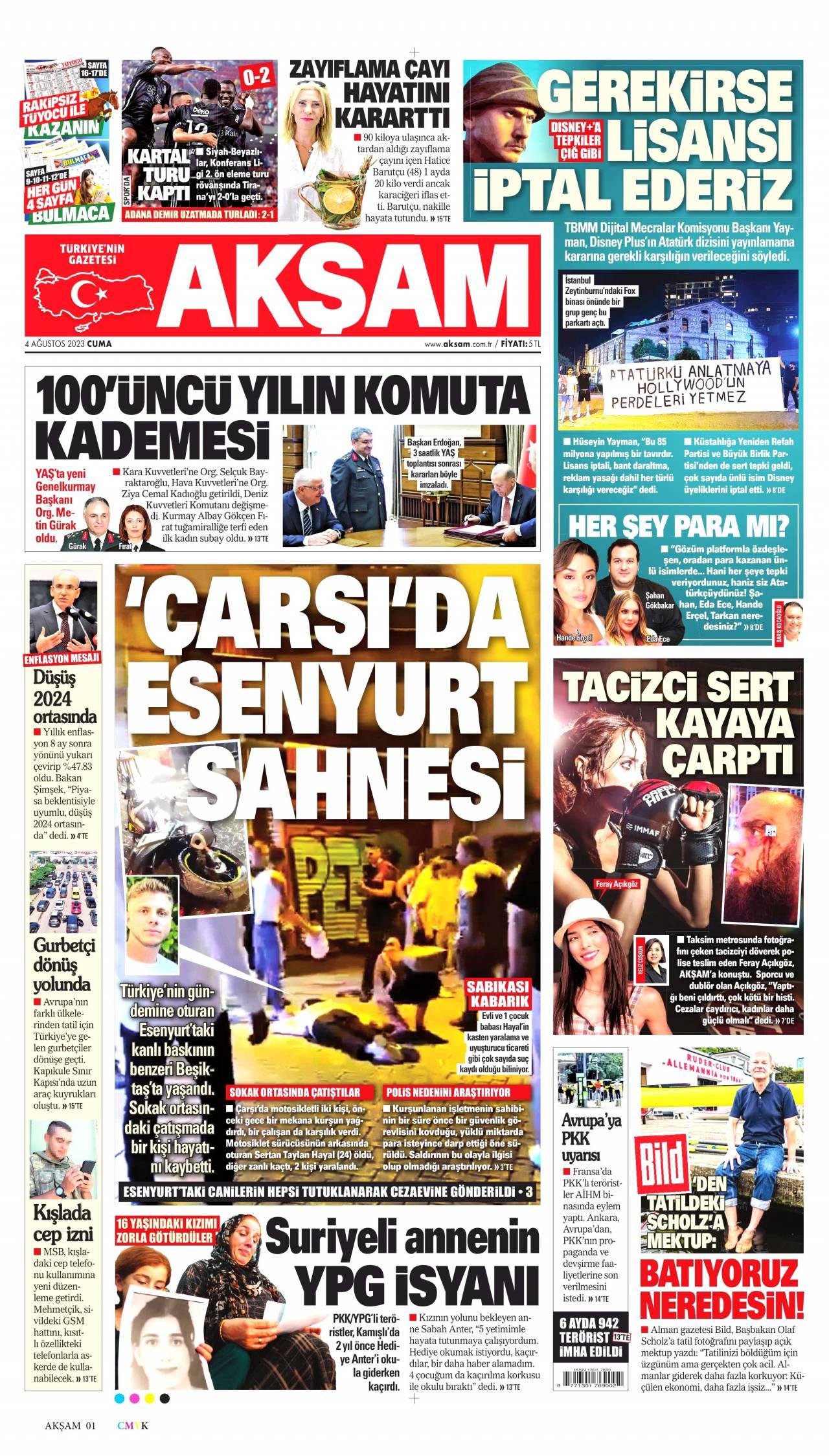 20 Ocak 2019, Pazar aksam Gazetesi