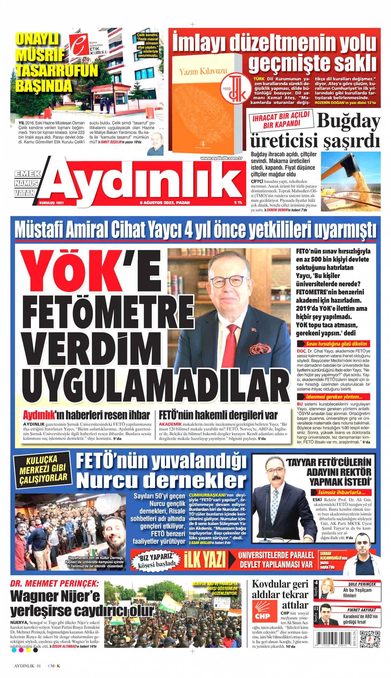 aydinlik Gazetesi