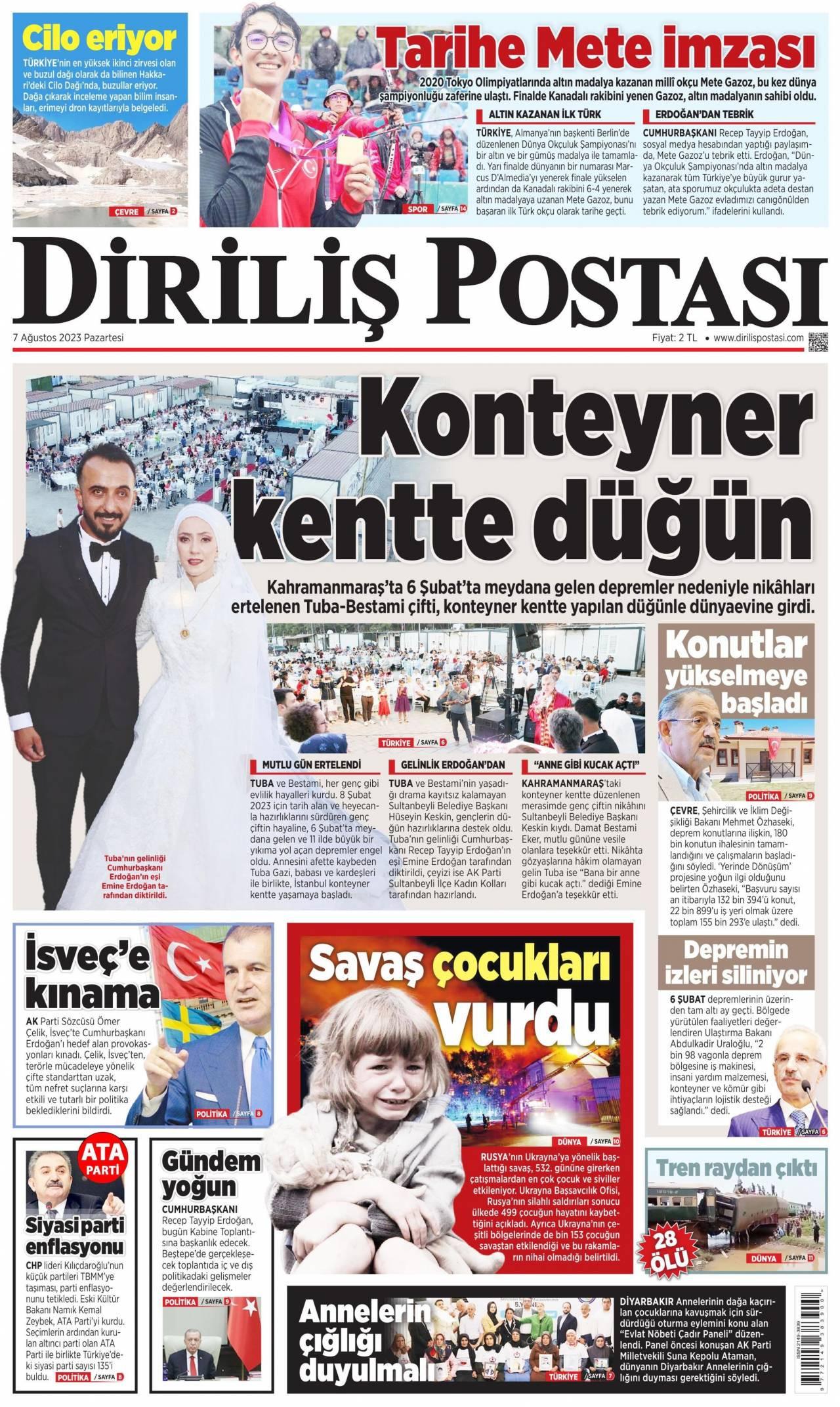 Diriliş Postası Газета