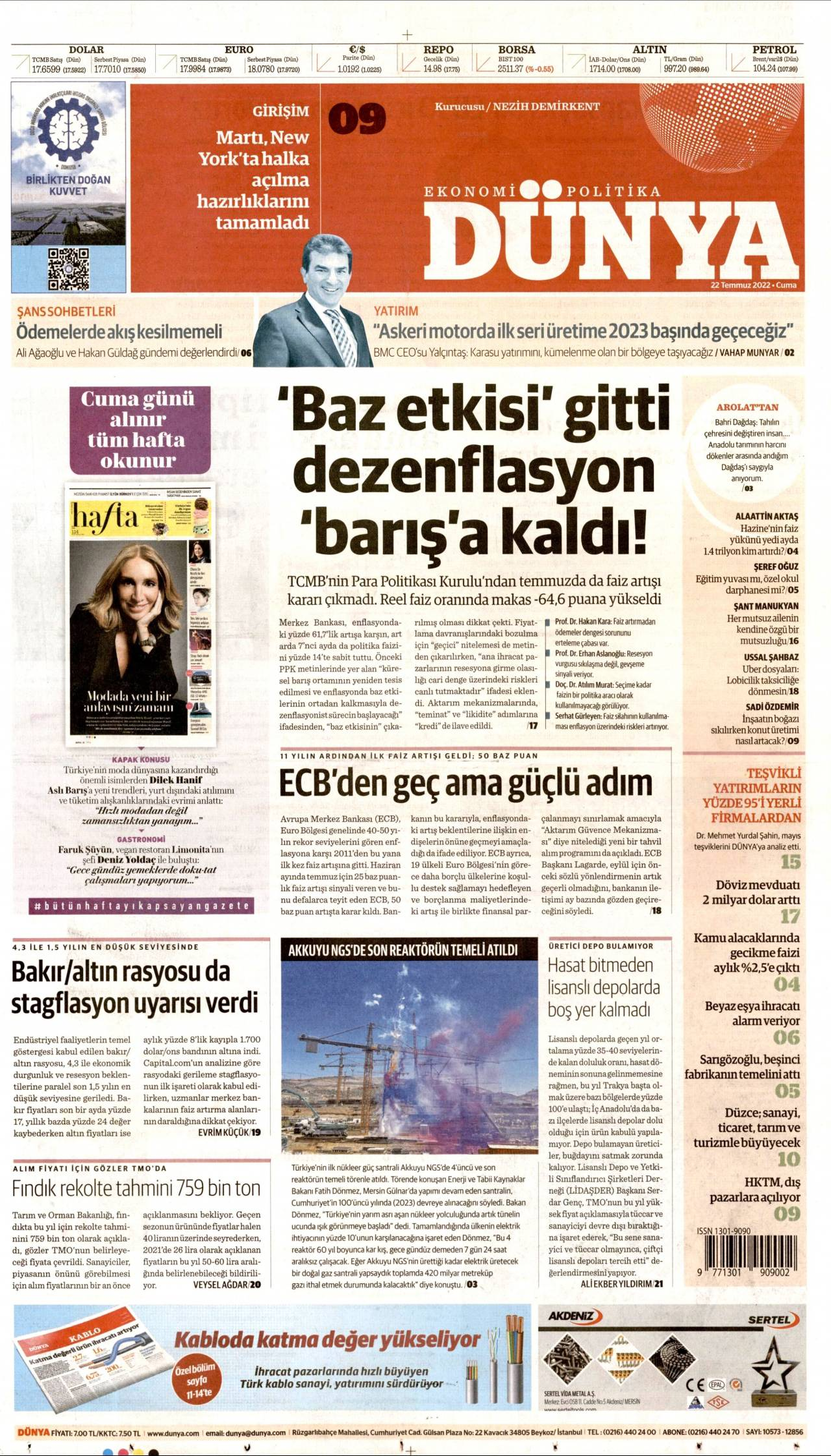 17 Ekim 2019, Perşembe dunya Gazetesi