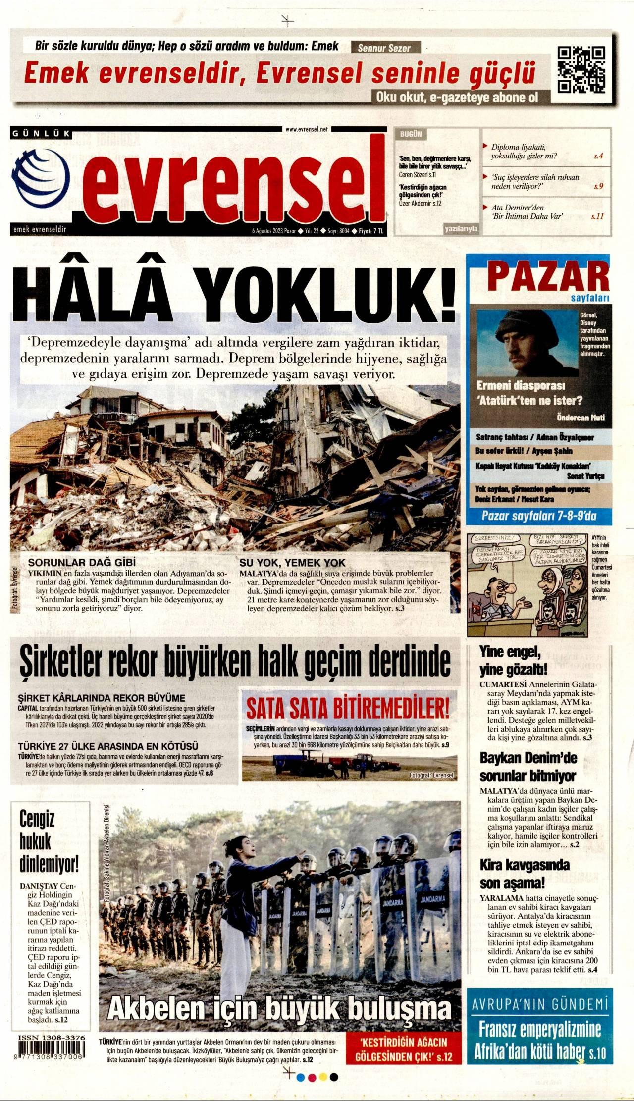 Evrensel Gazetesi Gazetesi