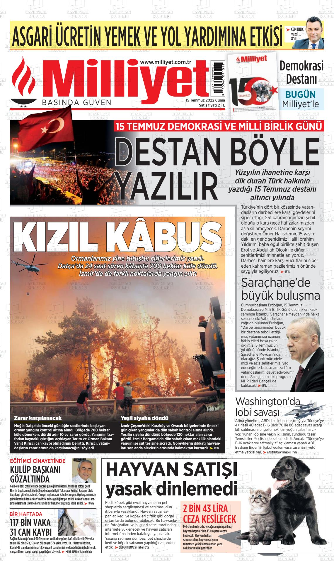 Milliyet Gazetesi - Çay TV Haber
