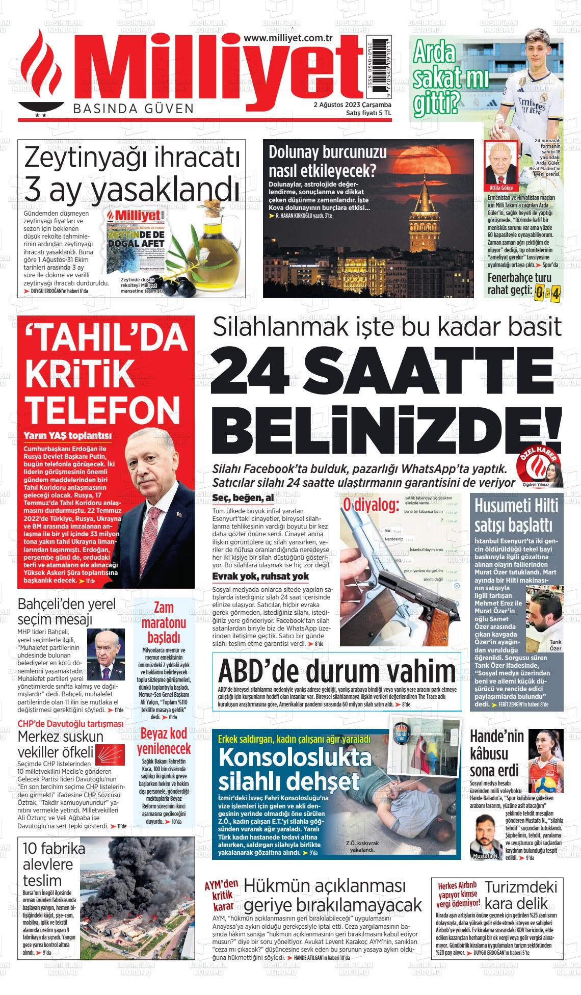 20 Ocak 2019, Pazar milliyet Gazetesi