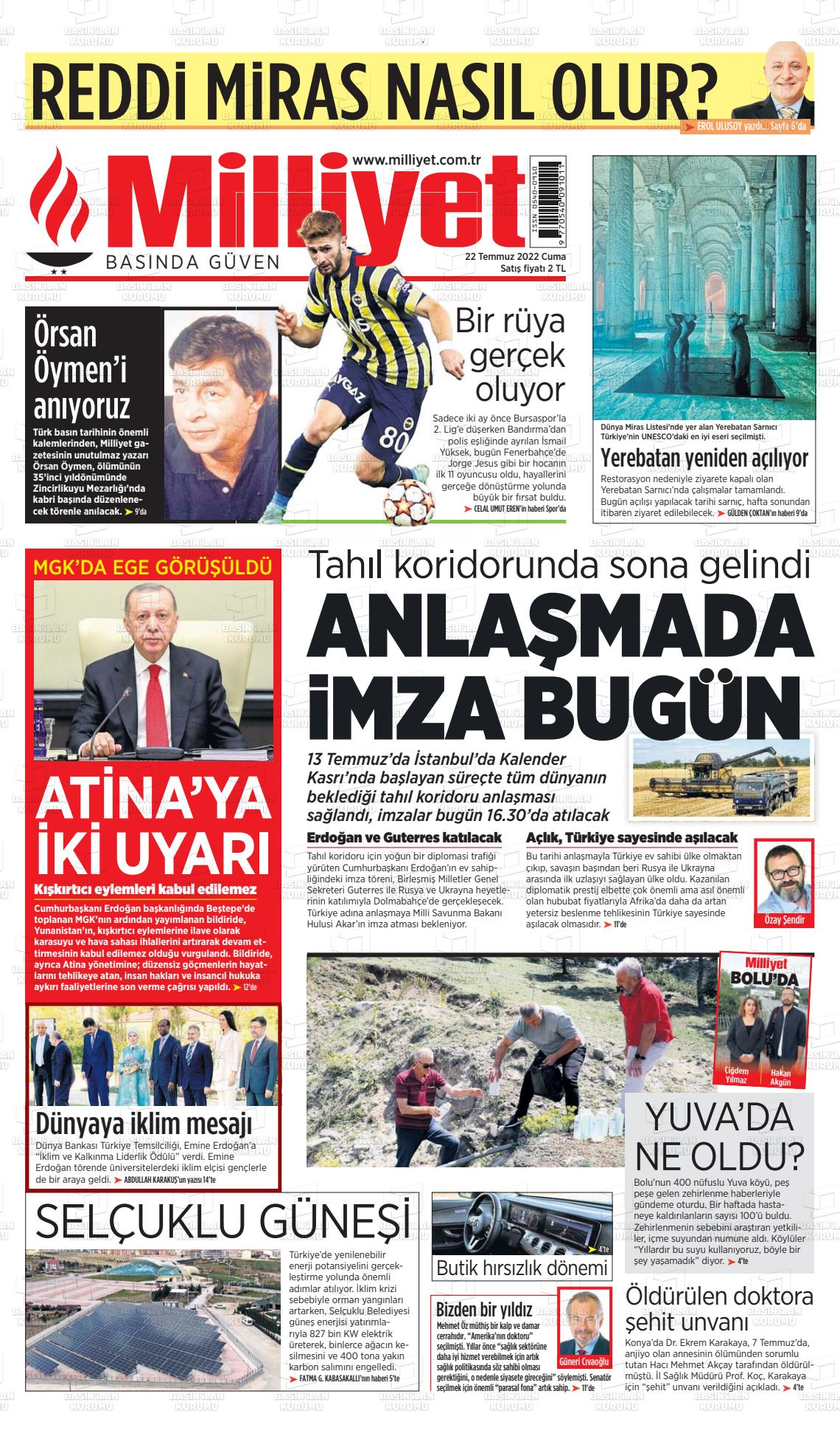 13 Kasım 2018, Salı milliyet Gazetesi