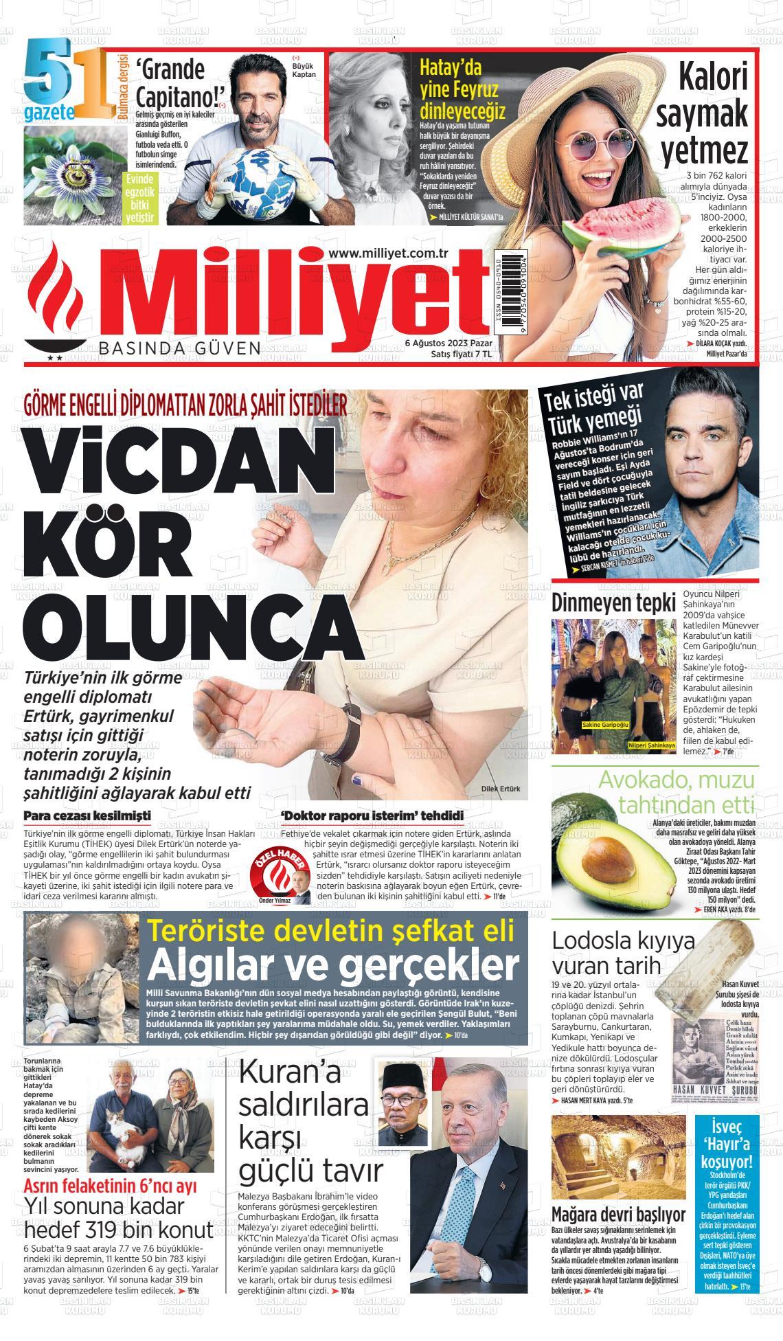 20 Temmuz 2019, Cumartesi milliyet Gazetesi