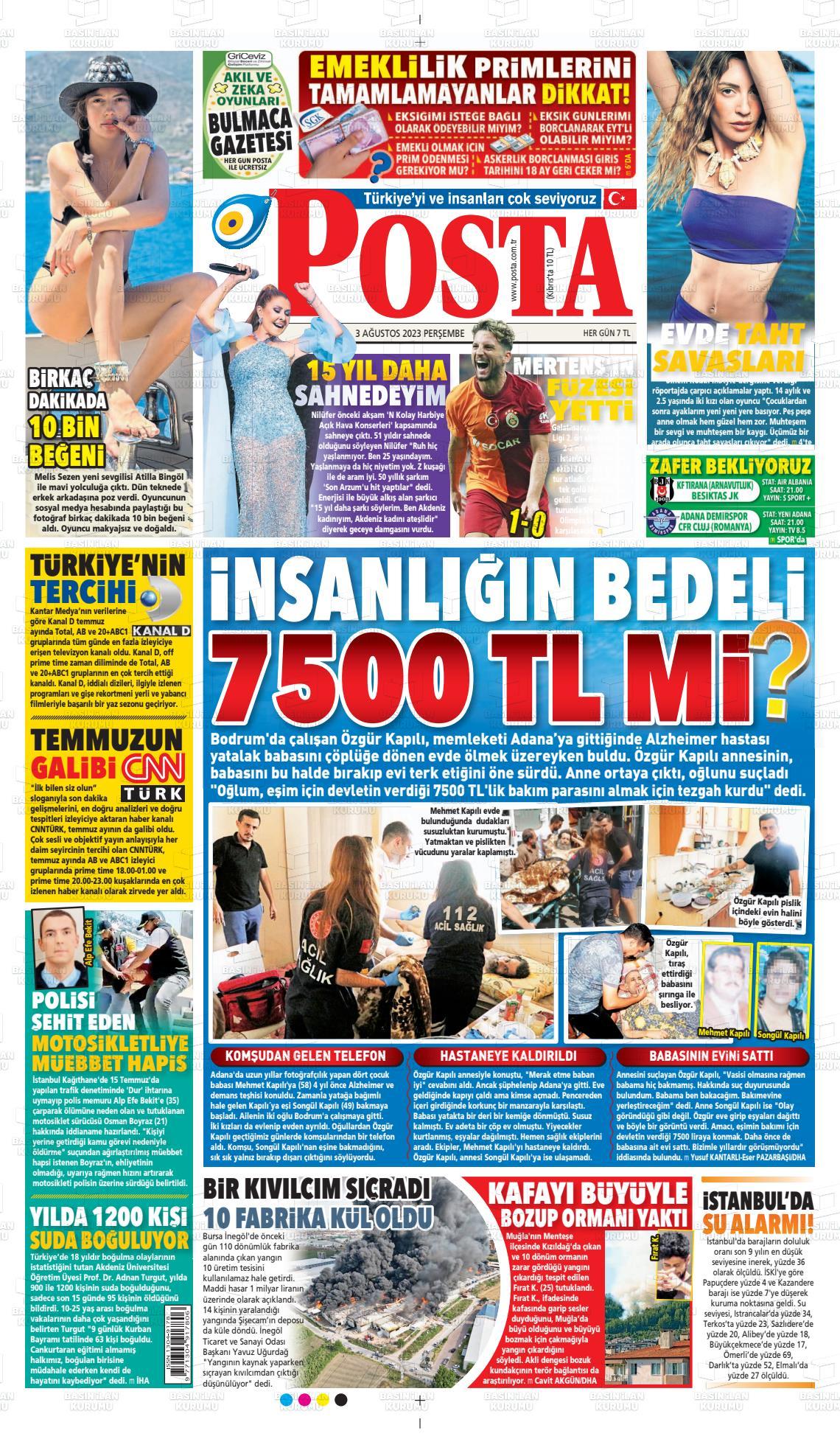 17 Ekim 2019, Perşembe posta Gazetesi