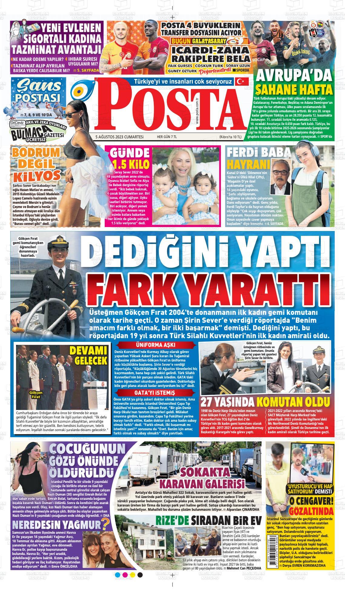 19 Eylül 2019, Perşembe posta Gazetesi