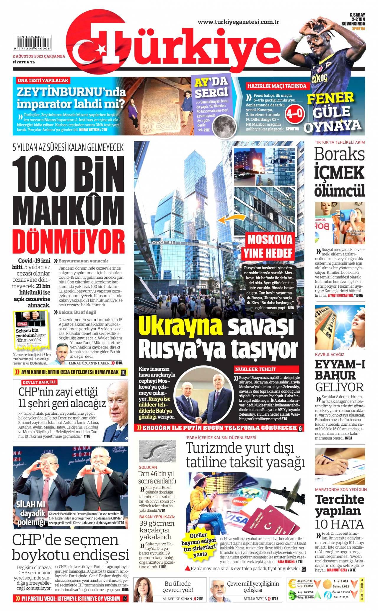 19 Şubat 2020, Çarşamba turkiye Gazetesi
