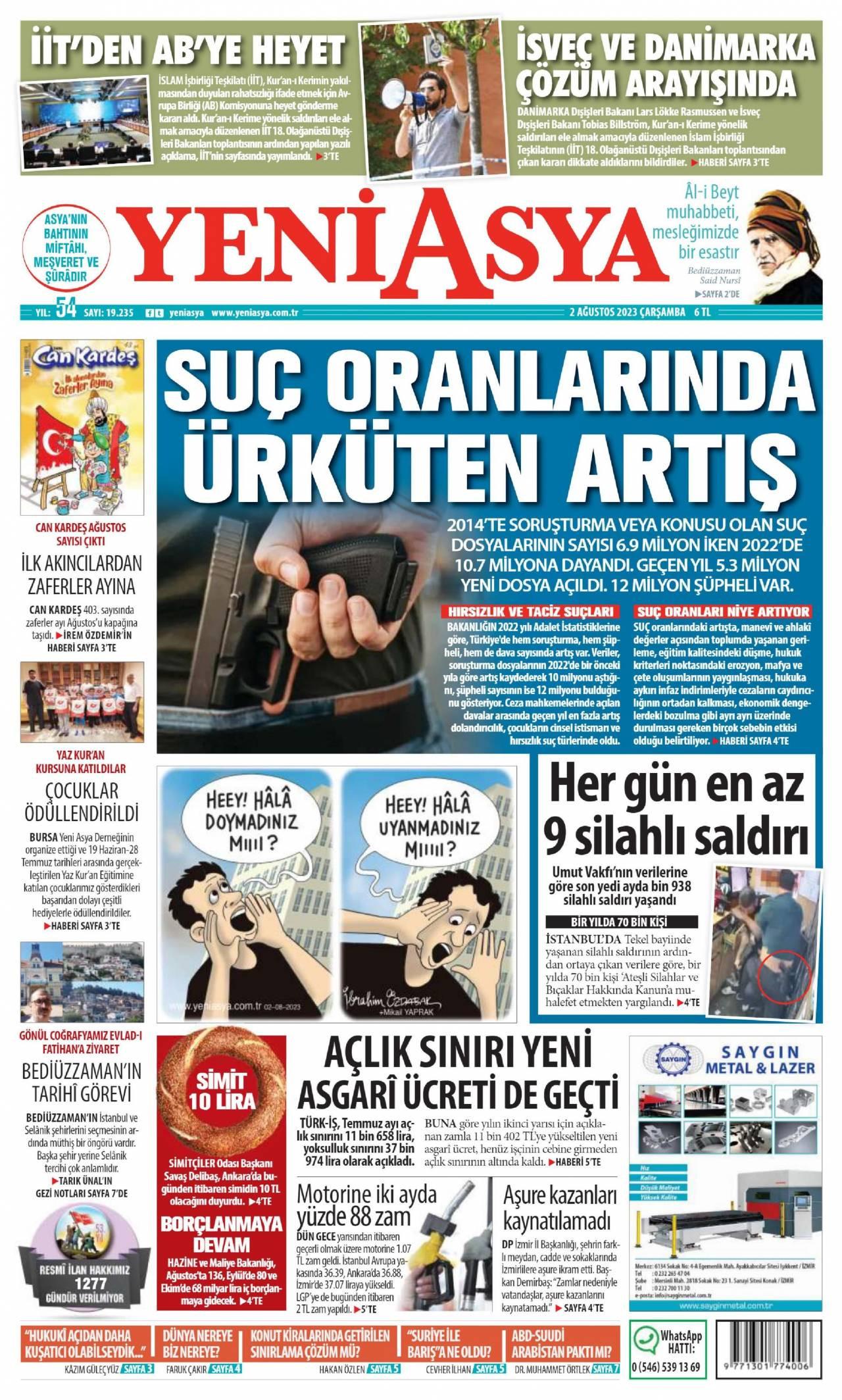 Gazete Manşetleri 4 Kasım 2018 Pazar Kdz Ereğli Haber Eregli