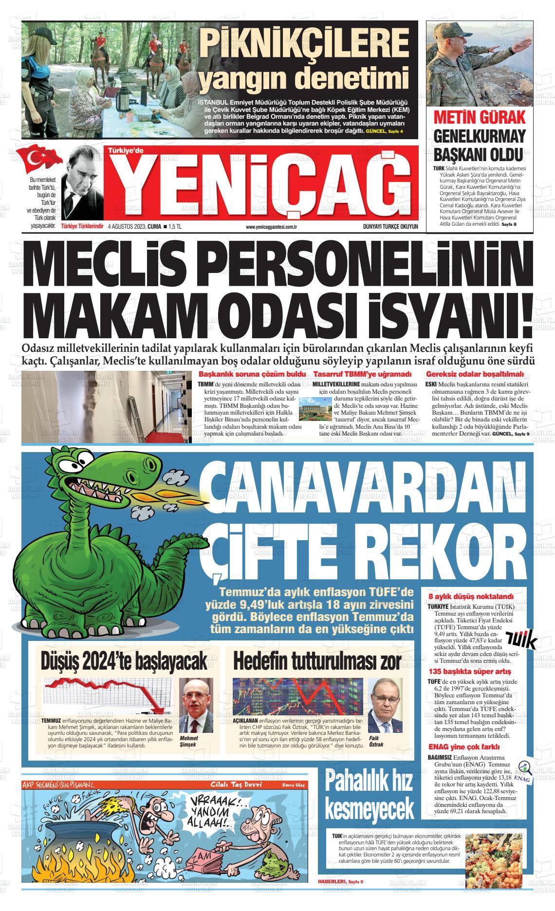 20 Ocak 2019, Pazar yenicag Gazetesi