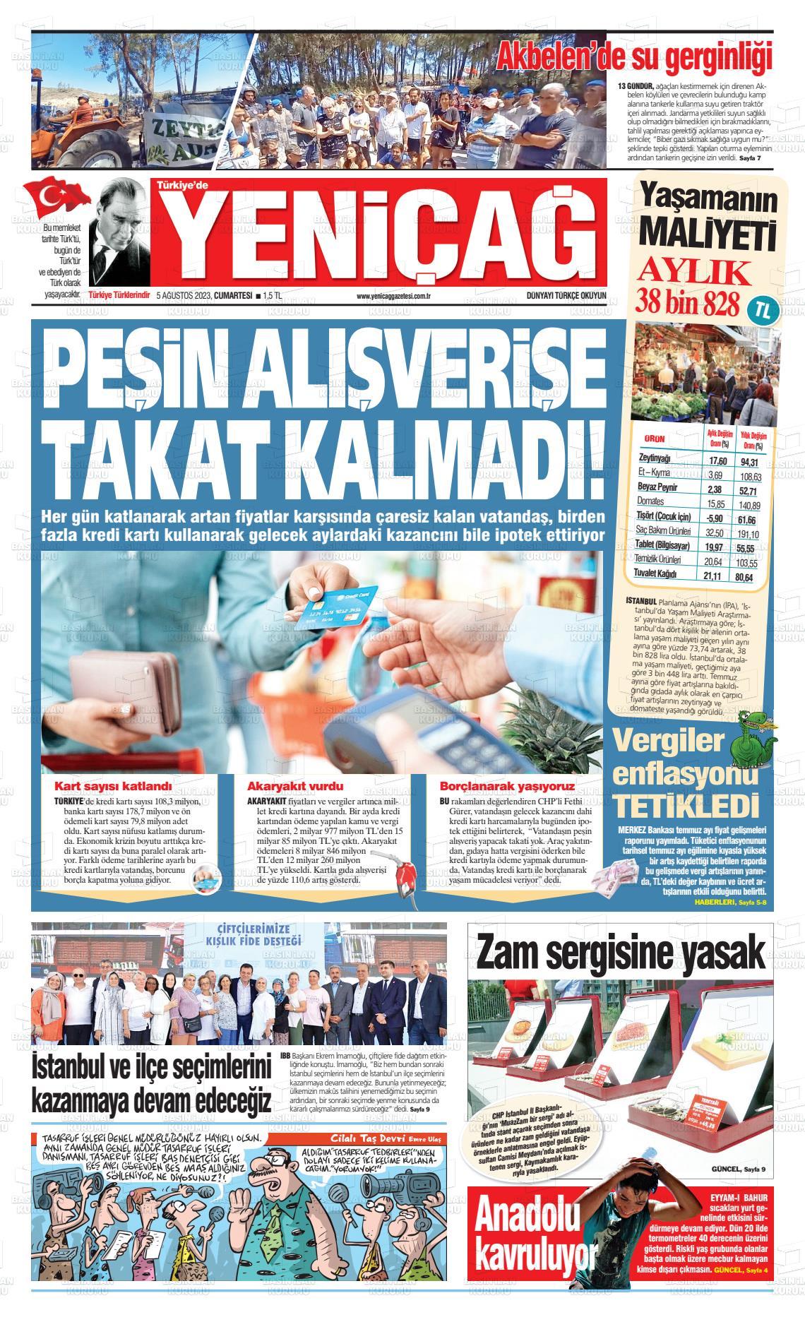 27 Ocak 2021, Çarşamba yenicag Gazetesi
