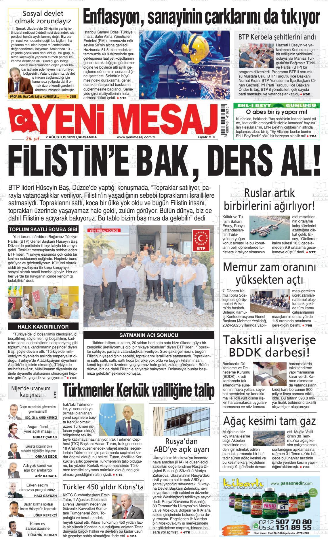 Yeni Mesaj Gazetesi