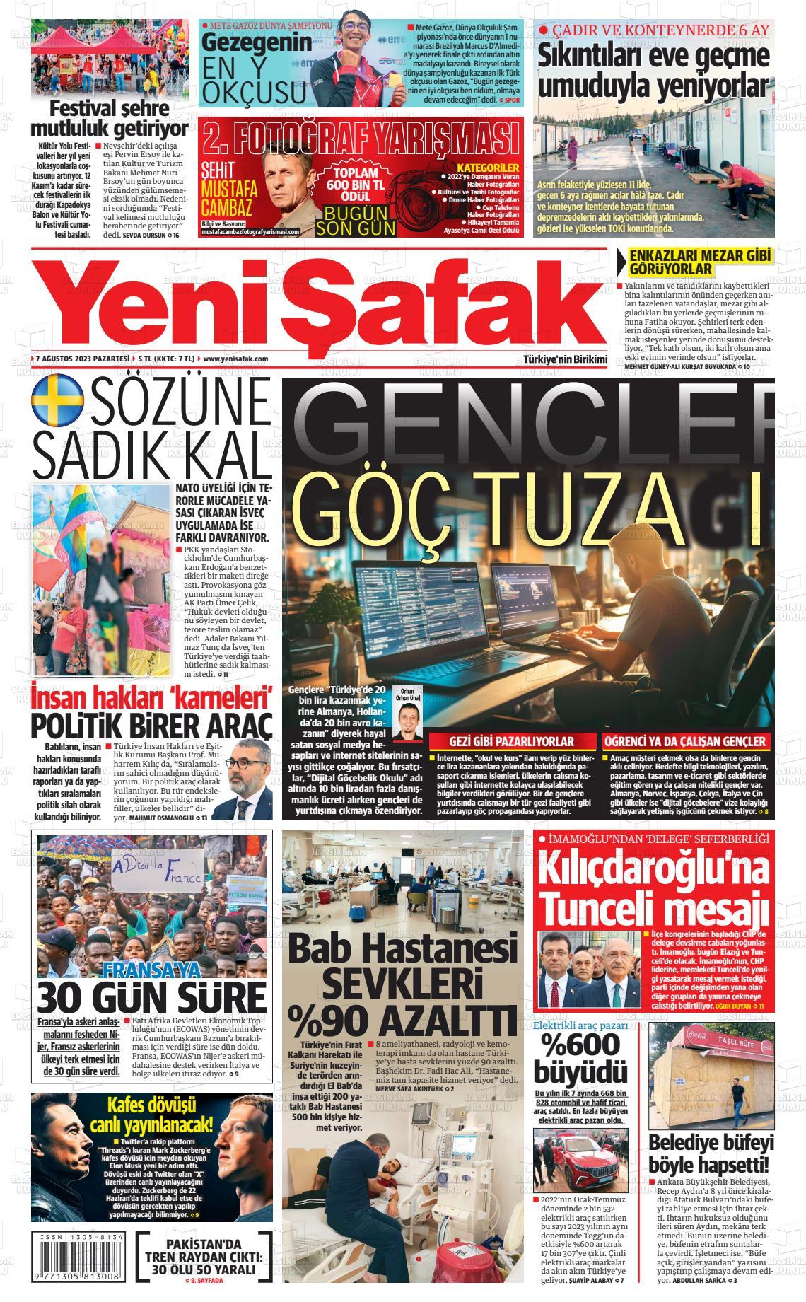 26 Mart 2019, Salı yenisafak Gazetesi
