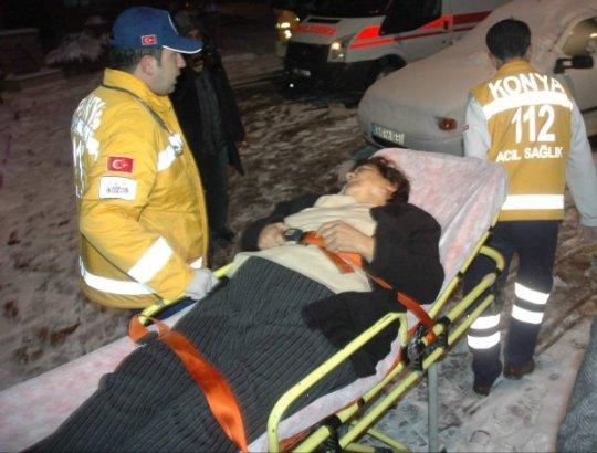 Konya'da Otobüs Kazası: 10 Yaralı - Konya