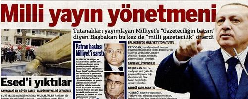 Taraf Erdoğan'a 'Milli Yayın Yönetmeni' Dedi