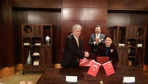 """Ebso, Çin'le """"E-İpek Yolu"""" Anlaşması İmzaladı"""