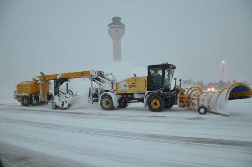 Washington Havaalanında Kar Yağsa da Uçuşların Yüzde 90'ı Aksamıyor